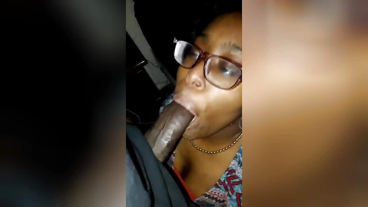 Cute Mzansi Girl Kneels Down And Worships Big Black Cock