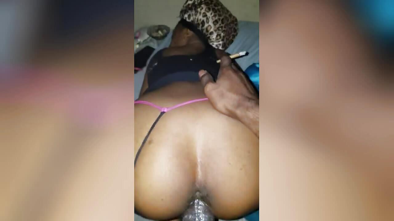 Ekasi big dick making her pussy creampie